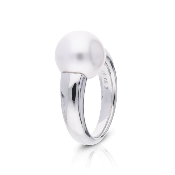 Silberring mit Perle 12mm 14129